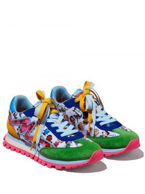 Кроссовки на каблуке - синие Marc Jacobs