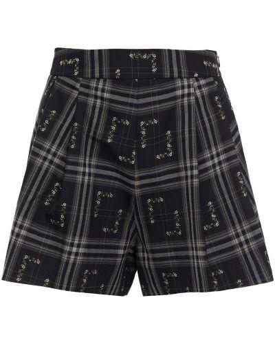 Хлопковые черные шорты с карманами Paul & Joe
