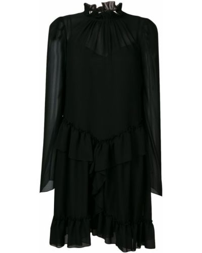 Платье с оборками черное See By Chloé