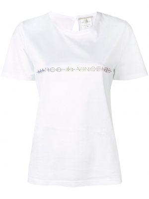Хлопковая футболка - белая Marco De Vincenzo