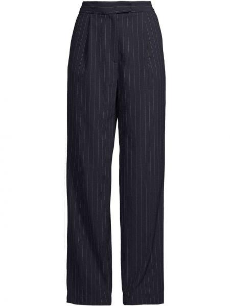 Niebieskie spodnie z wysokim stanem bawełniane Nicole Miller