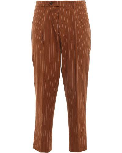Brązowe spodnie w paski Berwich