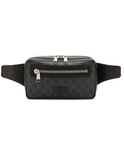 Поясная сумка кожаная Gucci