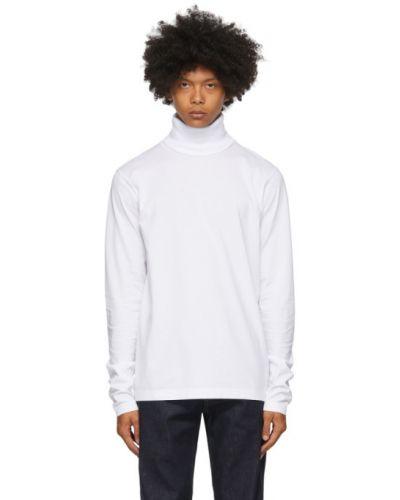 Bawełna z koszulą długo biały golf Acne Studios