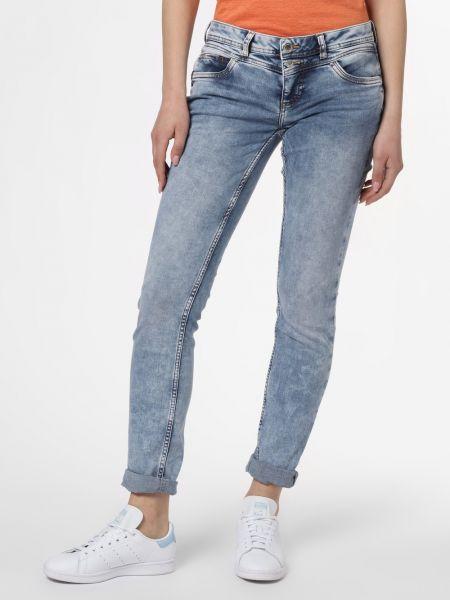 Niebieskie jeansy zapinane na guziki Street One