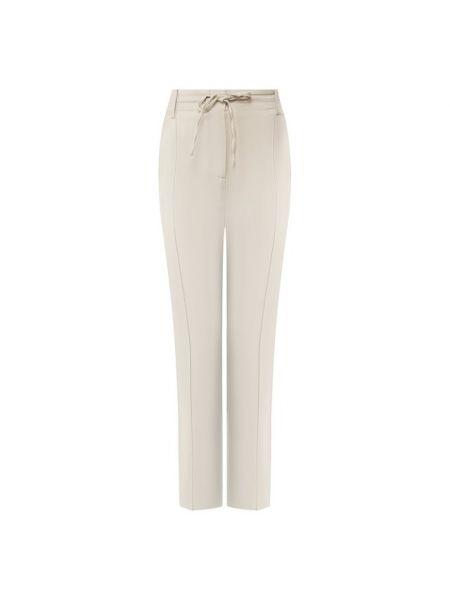 Бежевые брюки из вискозы Paul&joe