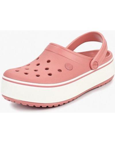Розовые резиновые сабо Crocs