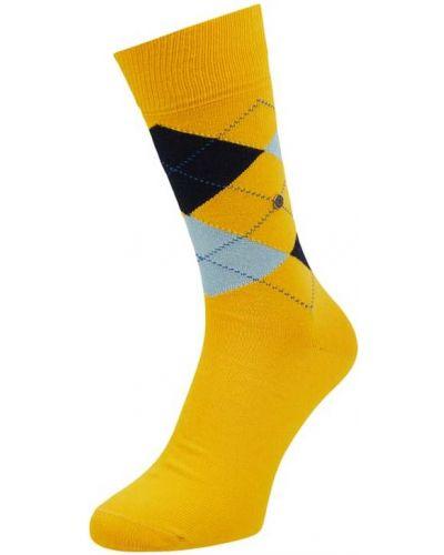 Żółte skarpety bawełniane Burlington