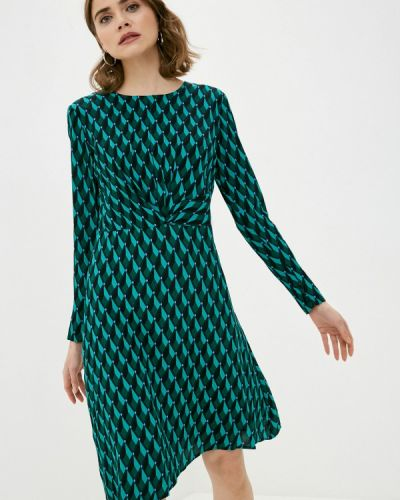 Прямое зеленое платье А-силуэта Zabaione