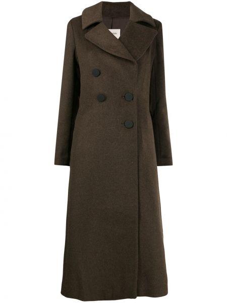 Коралловое шерстяное пальто классическое Jovonna