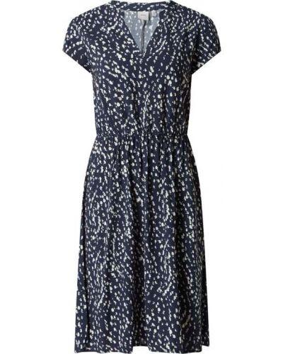 Niebieska sukienka krótki rękaw Ichi