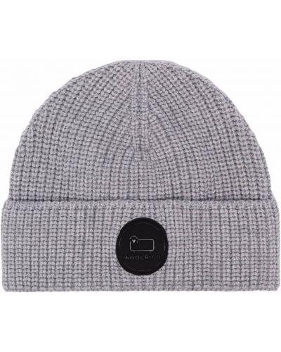 Шерстяная шапка бини - серая Woolrich
