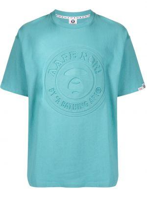 Niebieska koszulka bawełniana Aape By A Bathing Ape
