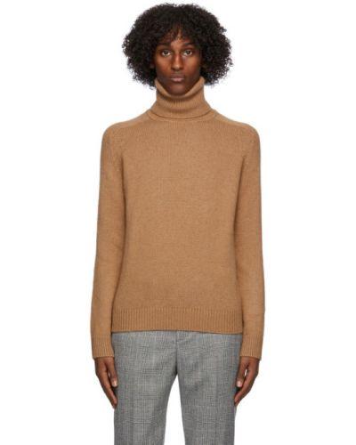Sweter wełniany z długimi rękawami Saint Laurent