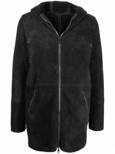 Czarna kurtka z kapturem Giorgio Brato