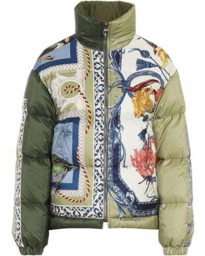 Зеленое пуховое пальто двустороннее Salvatore Ferragamo