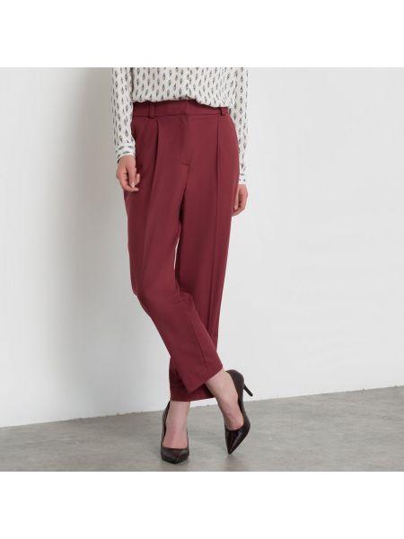Укороченные брюки с защипами с карманами La Redoute Collections