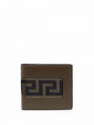 Zielony portfel skórzany Versace