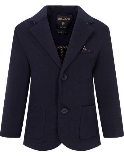 Синий хлопковый пиджак Mayoral