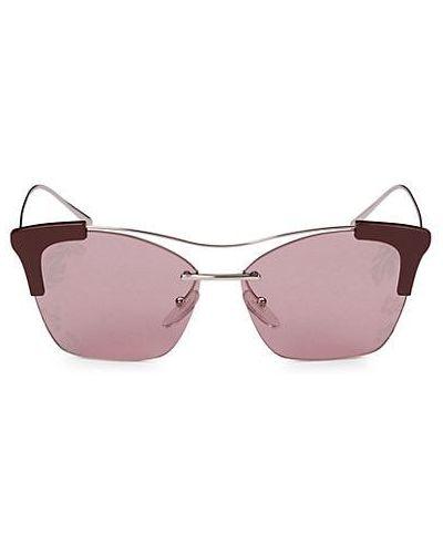 Фиолетовые солнцезащитные очки металлические Prada