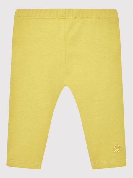 Legginsy - żółte United Colors Of Benetton