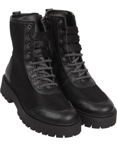 Черные кожаные ботинки Dkny