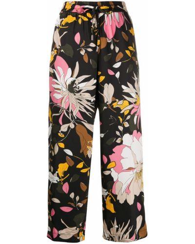 Свободные брюки с карманами в цветочный принт Liu Jo