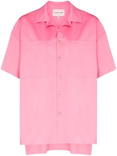 Ciepła różowa koszula bawełniana Natasha Zinko