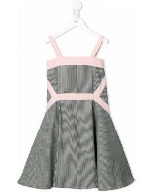 Текстильное приталенное платье с рукавами Owa Yurika