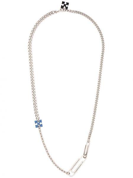 Серебряное ожерелье с подвесками Off-white