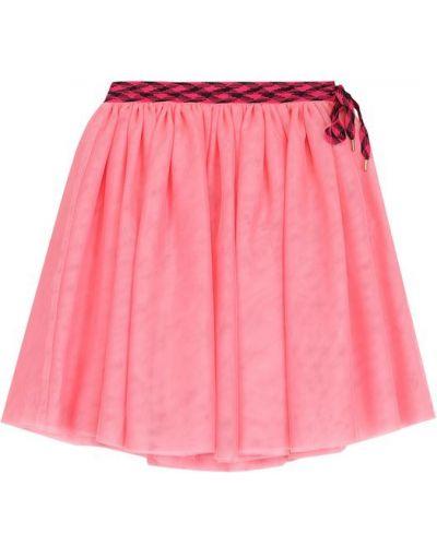 Юбка миди многоярусная розовая Marc Jacobs