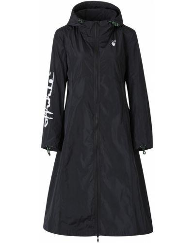 Czarny płaszcz z kapturem materiałowy Off-white