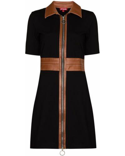 Платье мини короткое - черное Staud