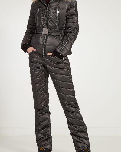 Пуховые черные утепленные брюки Naumi