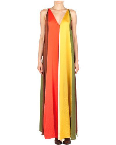 Sukienka bez rękawów materiałowa oversize Suoli