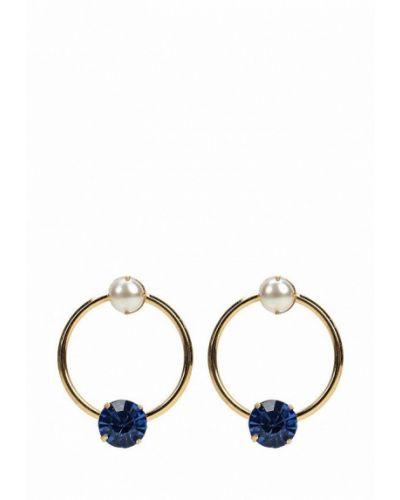 Серьги-кольца золотого цвета Zarina