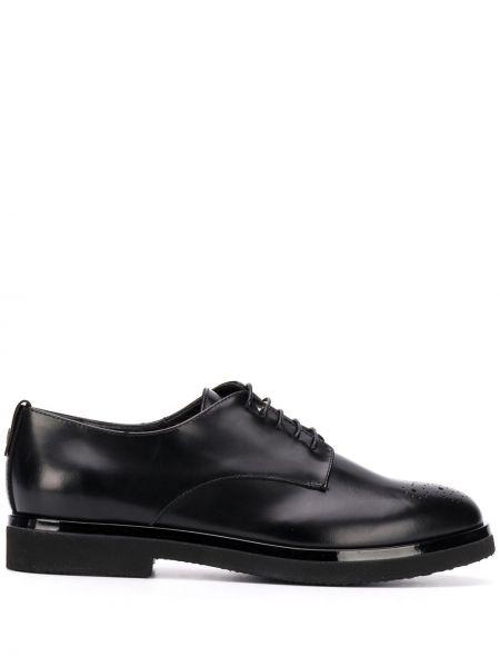 Koronkowa czarny buty brogsy z prawdziwej skóry zasznurować Agl