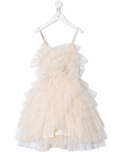 Расклешенное платье с вырезом круглое с оборками Tutu Du Monde