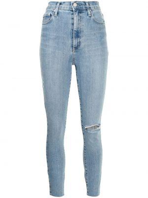 Облегающие зауженные джинсы - синие Nobody Denim