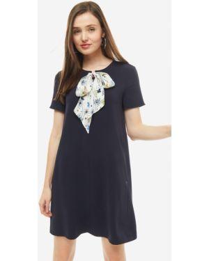 Платье с поясом однотонное Pennyblack