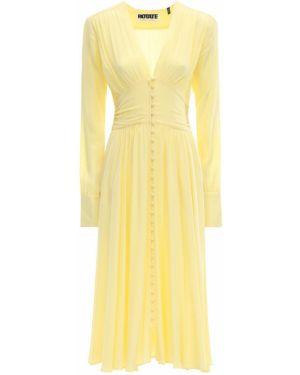 Платье на пуговицах с V-образным вырезом Rotate