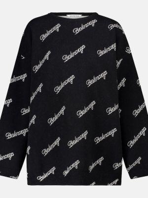 Czarny sweter wełniany Balenciaga
