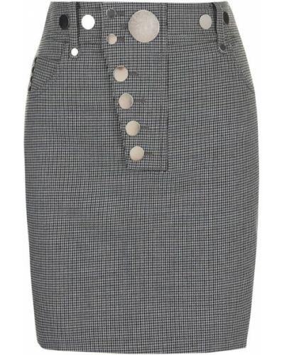 Серая юбка мини Alexander Wang