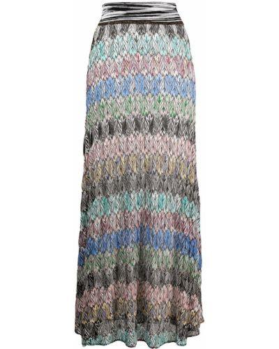 Розовая шелковая с завышенной талией юбка макси Missoni