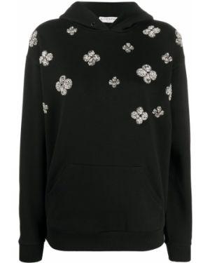 Bluza z kapturem z haftem czarny Givenchy