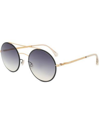 Черные солнцезащитные очки Mykita