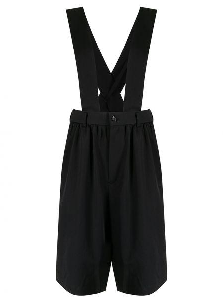 Черные шерстяные шорты Comme Des Garçons Girl