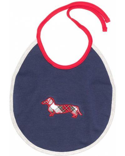 Синий хлопковый ватный нагрудник с вышивкой Harmont & Blaine Junior