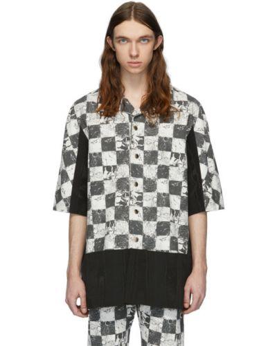 Czarna koszula krótki rękaw bawełniana Palomo Spain