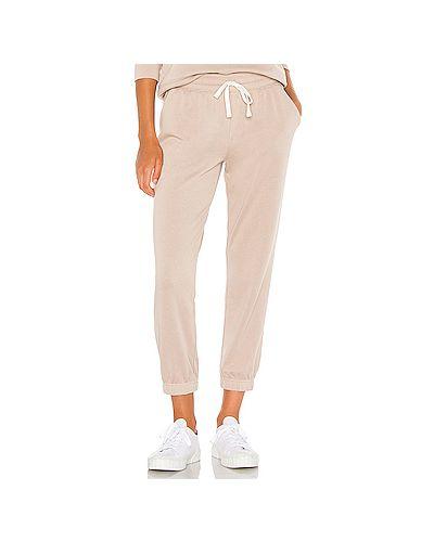 Спортивные флисовые брюки на резинке с завязками с карманами Splendid